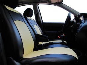 калъфи за седалки направени по мярка кожа FIAT PANDA