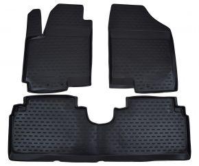 Гумени стелки за KIA Venga /Hyundai ix20  2010-up 3 брой