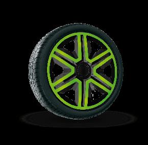 """капаци за колела SEAT 15"""", ACTION DOUBLECOLOR зелено черни 4брой"""