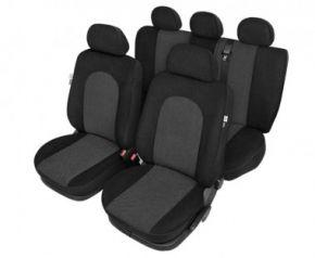 калъфи за седалки Atlantic черно - комплект Fiat Punto Evo Универсални калъфи