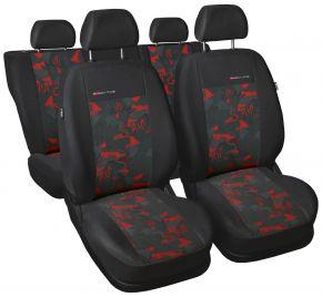 калъфи за седалки универсален Elegance червен