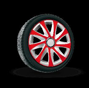 """капаци за колела SEAT 15"""", DRIFT EXTRA сребърно червено 4брой"""
