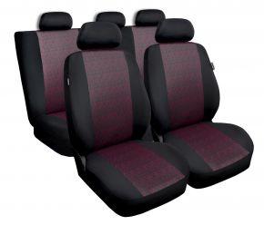 калъфи за седалки универсален PROFI червен