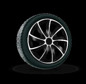 """капаци за колела Suzuki 17"""", Quad bicolor, 4 брой"""