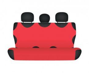 калъфи за седалки COTTON до задната неразделена седалка червен Honda CR-V от2012