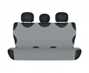 калъфи за седалки COTTON до задната неразделена седалка пепеляв Nissan Qashqai