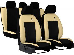 калъфи за седалки универсален кожени ROAD бежов