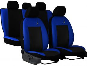 калъфи за седалки универсален кожени ROAD синьо